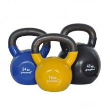 Bodymax 16 Kg Vinyl Covered Cast Kettlebell (Yellow)