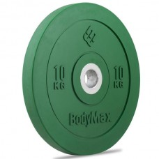 Bodymax Olympic 10kg Rubber Bumper Plates - Coloured Premium Fully Rubber Encased