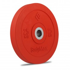 Bodymax Olympic 25kg Rubber Bumper Plates - Coloured Premium Fully Rubber Encased