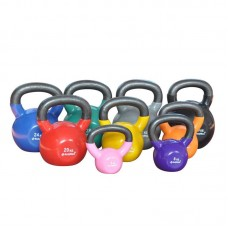 4 Kg Vinyl Covered Cast Kettlebell (Pink)