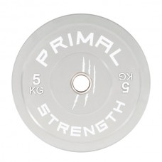 Primal Strength Rebel Commercial Fitness Elite Colour Bumpers 5kg Grey