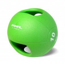 Primal Strength Double Handle 10kg Medicine Ball