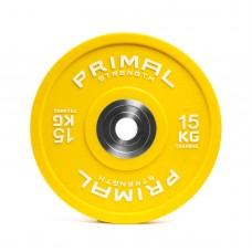 Primal Strength Urethane Competition Bumper Plate 15kg (single)
