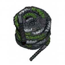 Primal Strength Stealth Commercial Fitness Black Gloss Canvas Battle Rope