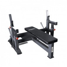 Primal Strength Stealth Commercial Fitness Adjustable Olympic Bench With Spotter & Platform