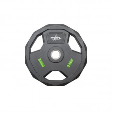 Primal Strength Stealth Commercial Fitness Premium Rubber Olympic Discs with Stainless Steel Ring 20kg